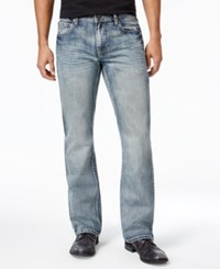 Inc International Concepts Men's Slim Fit Boot Cut Faded Jeans Only At Macy's Medium Wash