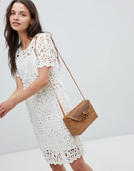 Deby Debo Guepe Crochet Lace Shift Dress Off White Cream