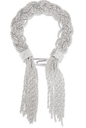 Aurelie Bidermann Miki Braided Silver Plated Bracelet