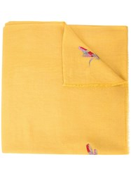 Janavi Dragonfly Embellished Scarf Yellow