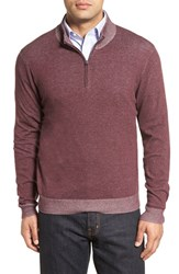 Nordstrom Men's Men's Shop Plaited Quarter Zip Cotton Sweater
