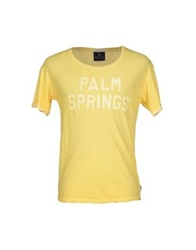 Maison Scotch T Shirts Yellow