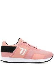 Trussardi Jeans Panelled Low Sneakers Pink