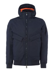 Duck And Cover Men's Arctan Padded Bomber Jacket Navy