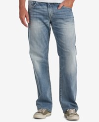 Silver Jeans Co. Men's Gordie Extra Loose Fit Straight Stretch Indigo Blue