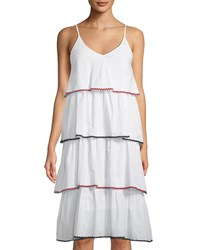 Romeo And Juliet Couture Ruffle Tiered Midi Dress White