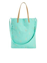 White Stuff Tara Print Canvas Tote Blue
