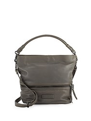 Liebeskind Leather Hobo Bag Grey