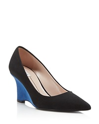 Furla Musa Wedge Pumps Onyx City Blue