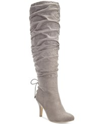 Thalia Sodi Lunna Tall Wide Calf Wide Width Boots Only At Macy's Women's Shoes Grey Taupe
