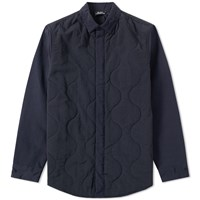 Olaf Hussein Quilted Overshirt Black