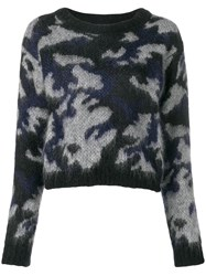 Woolrich Fitted Jumper Blue