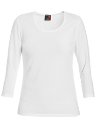 Betty Barclay Three Quarter Sleeve Scoop Neck T Shirt Bright White
