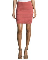 See By Chloe Ribbed Bodycon Skirt Pink