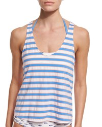 Splendid Cayman Striped Tankini Swim Top With Bandeau Multi