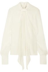 Jason Wu Draped Silk Blend Cloque Blouse
