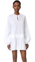 Matin Full Sleeve Tie Dress White
