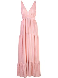 Lemlem Taytu Maxi Sun Dress Pink