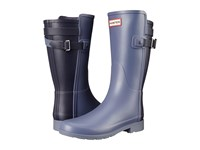 Hunter W Original Short Bt Refined Mineral Blue Midnight Women's Rain Boots Brown