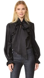 Temperley London Atlas Secretary Bow Blouse Black
