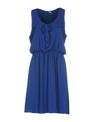 Fly Girl Knee Length Dresses Blue