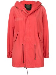Mr And Mrs Italy Mid Length Parka Red