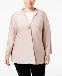 Jm Collection Plus Size Toggle Jacket Only At Macy's Silver Pink