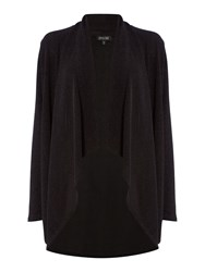 Episode Waterfall Front Lurex Cardi Black