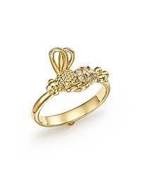 Temple St. Clair 18K Yellow Gold Flying Bee Diamond Ring