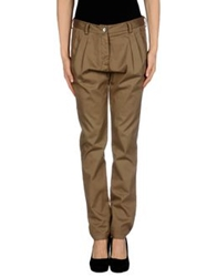 Peacock Blue Casual Pants Khaki