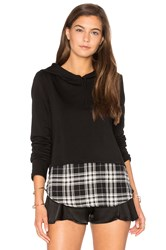 Generation Love Chester Plaid Sweatshirt Black