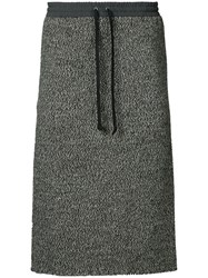 Undercover Drawstring Skirt Wool Brown