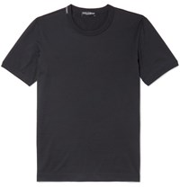 Dolce And Gabbana Slim Fit Cotton Jersey T Shirt Midnight Blue