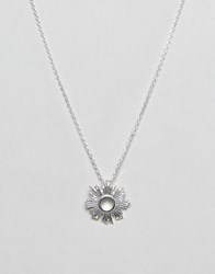 Ny Lon Nylon Simple Sun Burst Necklace Silver