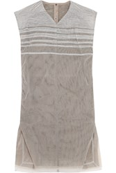 Rick Owens Pleated Mesh Tunic Gray