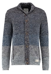 Tom Tailor Denim Cardigan Dark Duck Blue Mottled Blue