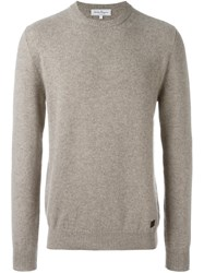 Salvatore Ferragamo Crew Neck Jumper Nude And Neutrals