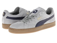 Puma Suede Classic Leather Fs Limestone Gray Peacoat Men's Classic Shoes