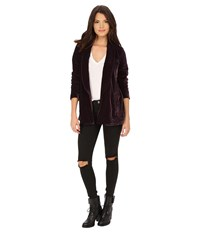 Free People Slouchy Velvet Blazer Midnight Purple Women's Jacket