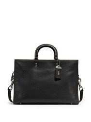 Coach 1941 Rogue Leather Briefcase Black White