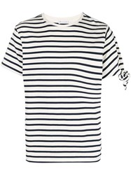 J.W.Anderson Jw Anderson Striped T Shirt Blue