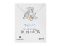 Dogeared Take Me To The Ocean Classic Anchor Necklace Gold Dipped Necklace
