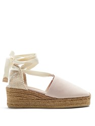 Castaner Campina Canvas Wedge Espadrilles Light Pink