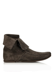 Tomas Maier Lace Up Suede Ankle Boots