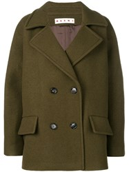 Marni Classic Double Breasted Coat Green