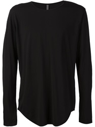 Attachment Long Sleeve T Shirt Black