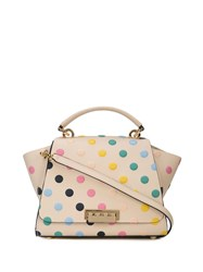Zac Posen Eartha Medium Soft Top Handle Polka Dot White