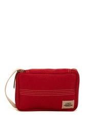 Timberland Canvas With Patch Flat Pack Travel Kit Red