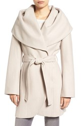 T Tahari Women's Wool Blend Belted Wrap Coat Macrame