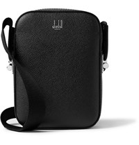 Dunhill Cadogan Pebble Grain Leather Messenger Bag Black